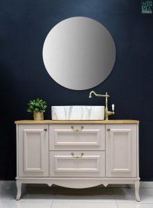 ארון  אמבטיה דגם רויאל כולל כיור או משטח עץ – 100
