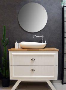 ארון אמבטיה דגם לאונרדו עומד כולל כיור או משטח עץ