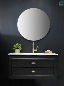 ארון  אמבטיה דגם לאונרדו כולל כיור או משטח עץ
