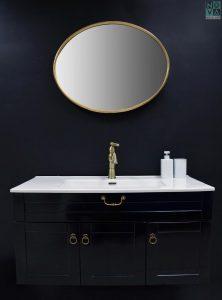 ארון  אמבטיה דגם כפרי לייט  כולל כיור או משטח עץ – 90