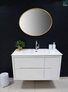 ארון  אמבטיה דגם טופ חלק כולל כיור או משטח עץ – 100