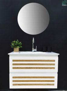 ארון  אמבטיה דגם לייסט אלון כולל כיור או משטח עץ