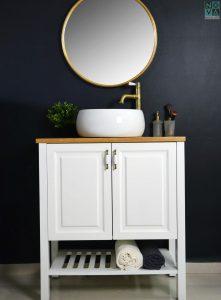 ארון אמבטיה דגם נאפה  כולל כיור או משטח עץ