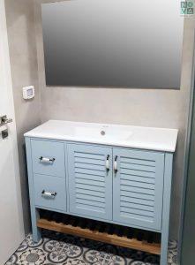 ארון אמבטיה דגם נווה צדק כולל כיור או משטח עץ – 100