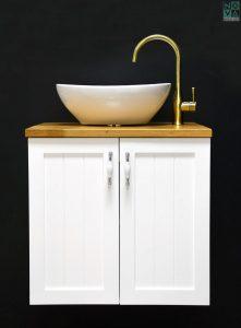 ארון אמבטיה דגם רסטיק דלתות כולל כיור או משטח עץ