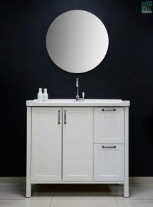 ארון אמבטיה דגם רסטיק עומד – 100 כולל כיור או משטח עץ