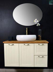 ארון אמבטיה דגם רסטיק כולל כיור או משטח עץ – 100
