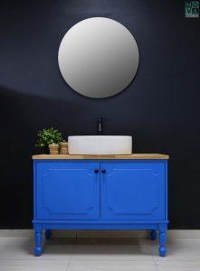 ארון אמבטיה דגם רוזלין  – כולל כיור או משטח עץ