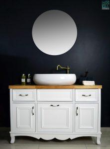 ארון אמבטיה דגם לואיז כולל כיור או משטח עץ – 100