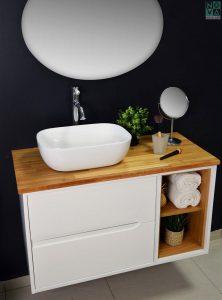 ארון  אמבטיה דגם לילך כולל כיור או משטח עץ -100