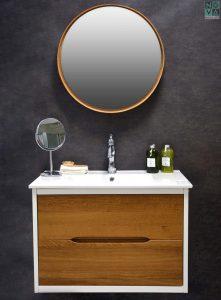ארון  אמבטיה דגם חורש כולל כיור או משטח עץ