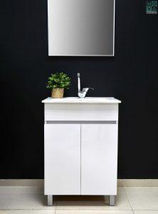 ארון אמבטיה עומד דגם נאו ליקה כולל כיור או משטח עץ