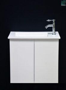 ארון  אמבטיה דגם לילך חלק כולל כיור או משטח עץ
