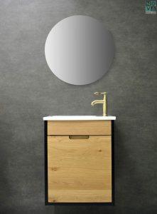 ארון  אמבטיה דגם הדס תלוי כולל כיור או משטח עץ