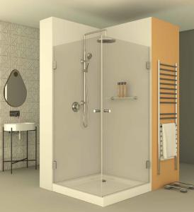 מקלחון פינתי בהזמנה מיוחדת שני דלתות