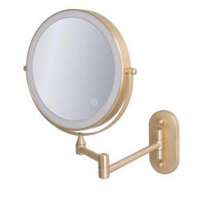 מראה מגדילה עם תאורת טאצ' לד X7 – זהב מט