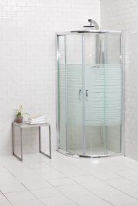 """מקלחון הזזה מעוגל ואיכותי מידות 80 ו90 ס""""מ"""