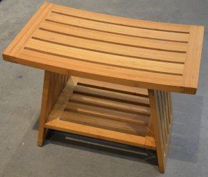 """ספסל עץ למקלחת 60 ס""""מ"""