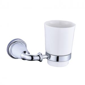 כוס מברשות שיניים כרום ולבן עם 12 שנות אחריות – סדרת אריסטו