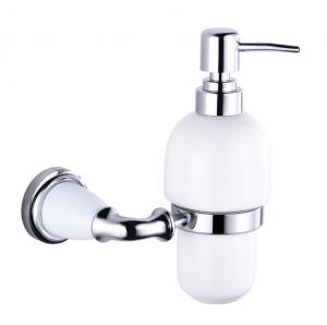 דיספנסר לסבון נוזלי כרום ולבן עם 12 שנות אחריות – סדרת אריסטו
