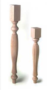 רגל עץ דקורטיבית לרהיטים שולחנות ודלפקים עץ בוק מלא – GP19