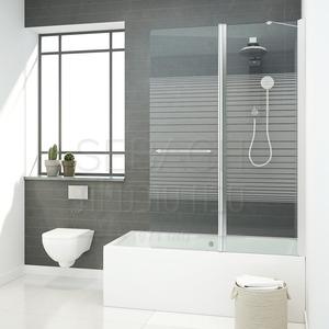 אמבטיון איכותי קבוע ודלת עם אפשרות לדופן צד