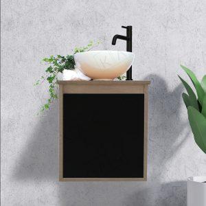 ארון אמבטיה כפרי תלוי דלת שחור או לבן – דגם SAN