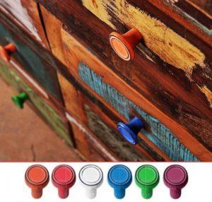 """ידית כפתור 564 – 37 מ""""מ כחול,ירוק,אדום,כתום,ורוד,לבן – וינטג'"""