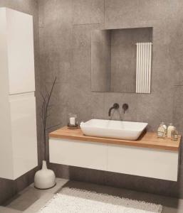 ארון אמבטיה דגם לופט כולל בוצ'ר כיור לבחירה ומראה
