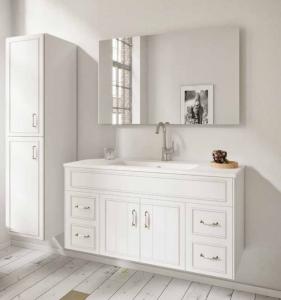 ארון אמבטיה דגם סייפן כולל כיור אינטגרלי ומראה