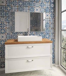 ארון אמבטיה דגם דופלו כולל בוצ'ר כיור לבחירה ומראה