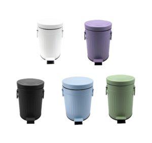 פח פדל רטרו 3 ליטר – שחור,לבן,תכלת,סגול,ירוק פיסטוק