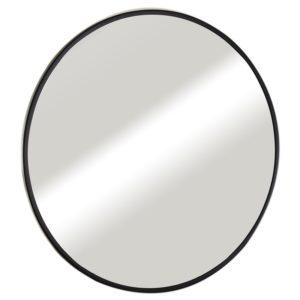 מראה עגולה עם מסגרת שחורה במידות 60,70,80