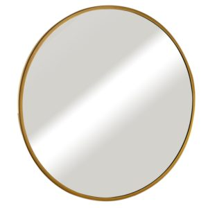 מראה עגולה עם מסגרת זהב מט במידות 60,70,80